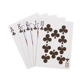 Cards for the poker on the table — Stock Photo