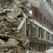 Stock Photo: Demolition of block of flats