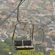 Stock Photo: Ski lift chair