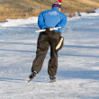 Stock Photo: Iceskating Elfstedentocht