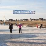 Iceskating the Elfstedentocht — Stock Photo #9414843