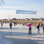 Iceskating the Elfstedentocht — Stock Photo