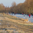 Stock Photo: Iceskating the Elfstedentocht