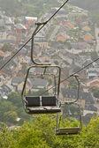 A ski lift chair — Stock Photo