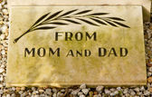 An epitaph on an old grave — Stock Photo