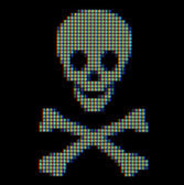 Close-up of a pirate symbol — Stock Photo
