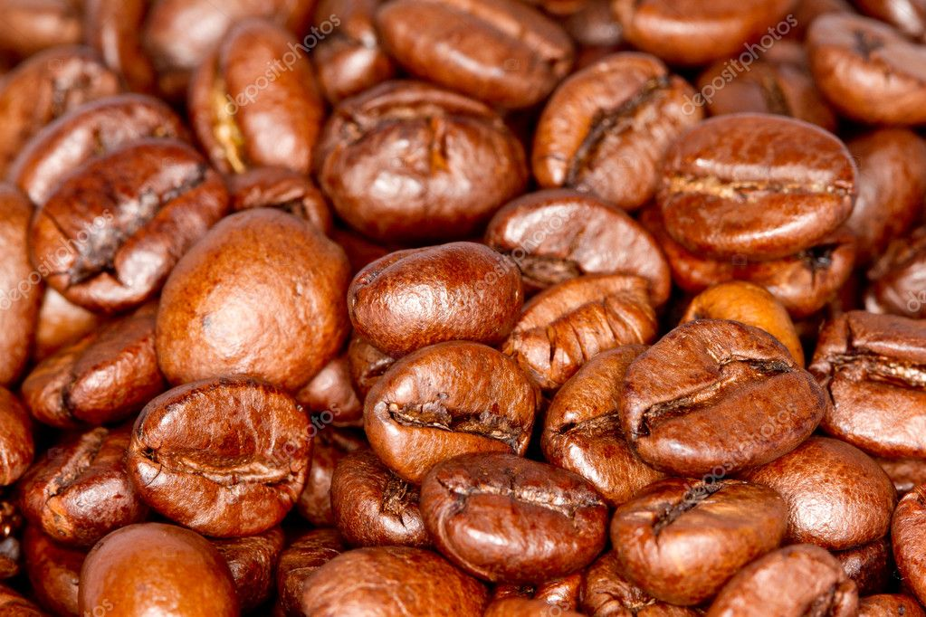 A few coffee beans — Stock Photo #9414768