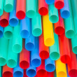 Different colors of straws — Stock Photo