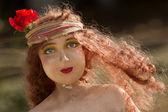 女性の古いプラスチック製の像 — ストック写真