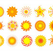 Collection suns — Stock Vector