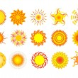 Collection suns — Image vectorielle