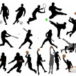 Sport silhouettes — Stock Vector #9485071
