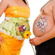 Two stomach with pictures — Stock Photo #10284306