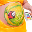 Pregnant woman's belly — Stock Photo #10284400