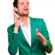 Positive emotional young man — Stock Photo #10424145