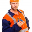 Young worker in uniform — Stock Photo #10427875
