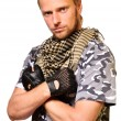 Soldiers in camouflage uniform — Stock Photo