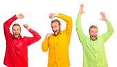 Trzech młodych tancerzy — Zdjęcie stockowe