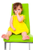 Child on chair — Stock Photo