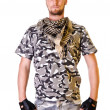 Soldier in camouflage uniform — Stock Photo
