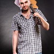 Attractive young guitarist — Stock Photo