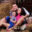 Stock Photo: Playful young family