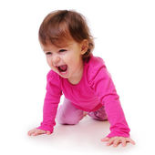 Child learns to crawl — Stock Photo