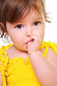 Thoughtful little girl — Stock Photo