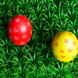 Two Easter eggs — Stock Photo