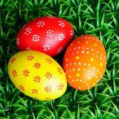 Three Easter eggs — Stock Photo