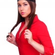 Lady in red dress — Stock Photo #9903504