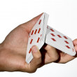 Cards split — Stock Photo