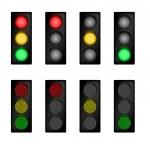 Traffic light set — Stock Vector