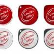 Limited Offer round sticker — Imagen vectorial