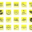 Sticky notes for shop — Stockvektor #9441922