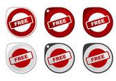 Free Sticker — Stock Vector