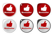 Bestseller round sticker — Vector de stock