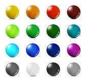 Color balls set — Stock Vector