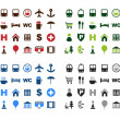 Royalty-Free Stock Vector Image: Map icons set