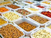 Nuts flea market store — Stock Photo