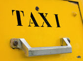 Urban taxi service — Stock Photo