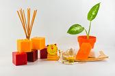 Orange decorations for children's — Stock Photo