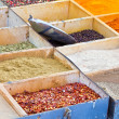Weekly market spices shop - Foto de Stock  