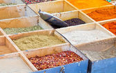 Weekly market spices shop — Stock Photo