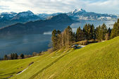 Lake Lucern from Mt Rigi — Stock Photo