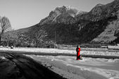 Fire Hydrant in Austrian Alps, Brenner Pass — Stock Photo