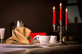 Table setting at a restaurant — Stock Photo