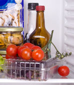 Food in the fridge — Stock Photo
