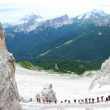 Group of climbers on the mountain — Stock Photo