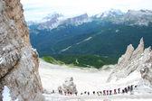 группа альпинистов на горе — Стоковое фото